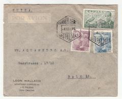Leon Wallach, Las Palmas Company Air Mail Letter Cover Posted 1946 To Basel B202015 - 1931-Aujourd'hui: II. République - ....Juan Carlos I