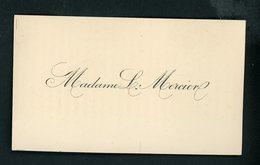 CARTE DE VISITE: MADAME L. MERCIER - Cartoncini Da Visita