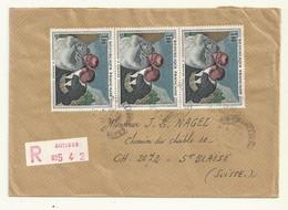 BELLE LETTRE RECOMANDEE DE ANTIBES   POUR LA  SUISSE  AVEC TP N°1494 - Manual Postmarks