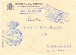 COVER  Ministero Del Interior La Coruna   SPECIAL POSTMARK  (FEB20933) - 1931-Oggi: 2. Rep. - ... Juan Carlos I