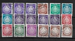 DDR. Allemagne SERVICE 1954   LOT 18 DOUBLONS VRAC OBLITERES  / YT Du N° 2 Au 16 //  FOND PLEIN // LOT D - Service