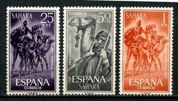 SAHARA ESPAGNOL 1963 N° 203/205 ** Neufs MNH Superbes C 1,75 € Pour L' Enfance Indigène Patrouille De Méharistes - Sahara Espagnol