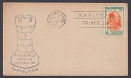FDC (C01) AJEDREZ. CAPABLANCA. CUBA. EDIFIL 457. 1951 - FDC