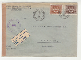 Yugoslavia FNR Official Letter Cover Posted Registered 1949 Beograd To Wien B202015 - Dienstpost