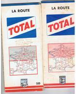 2 Cartes Michelin TOTAL La Route France SUD (  Lot Indissociable ) 1961/1967 - Cartes Routières