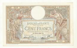BILLET 100 F  OLIVIER MERSON  EJ.22-9-1943. EJ   2 TROUS EPINGLE  + PLIURE CENTRALE  BEL ASPECT  CRAQUANT. - 1871-1952 Anciens Francs Circulés Au XXème