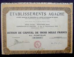 Etablissements Agache 3000 Francs Perenchies 1951 - Agriculture