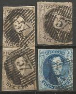 Belgique - Médaillons - Oblitérations D57 WARNETON - Postmarks - Lines: Distributions