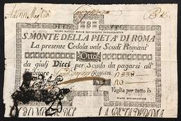 SACRO MONTE DI PIETA' ROMA 01 05 17978 8 SCUDI Taglietti E Mancanze Rara LOTTO 2993 - [ 1] …-1946 : Royaume
