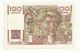 BILLET 100 F   JEUNE PAYSAN  H.1.4.1954.H   4 TROUS EPINGLE  TTB  TRES FRAIS  CRAQUANT - 1871-1952 Anciens Francs Circulés Au XXème