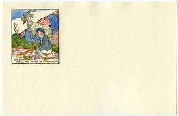 Buvard 21.2 X 13.3  Sans Publicité Image D'Epinal  Devinette 8 Où Sont Les 2 Autres Bergers?  Chèvre Montagne - Buvards, Protège-cahiers Illustrés