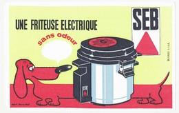 Buvard 21 X 13.4 La Friteuse électrique SEB Chien Basset  Hallard - Beuvry-Nord - Alimentaire