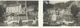 Lot De 2 Photos Anonymes - YVOIR - Sur L'Ile - 1958 Dimensions 10,2 / 7,2 Cm - Plaatsen