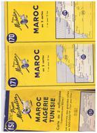 3 Cartes Michelin ALGERIE / MAROC / TUNISIE (  Lot Indissociable ) 1953/1954/1955 - Cartes Routières