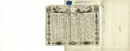 Almanach De 1820 Hôtel De La Providence Rue D'Orléans St Honoré Paris Irlande Palais Royal N°28 Couverture Toilé Satin - Calendriers