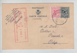 REF355/ Entier CP 142 II NF + TP 859 C.Hamont 29/11/63 > BXL Taxé 20 C Par TTx Méc. BXL 1 3/12/63 - Cartes Postales [1951-..]