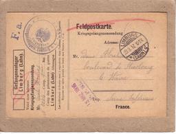 GUERRE 1914-18 - CAMP , GEFANGENENLAGER LIMBURG POUR LE HAVRE - FELDPOSTKARTE CORRESPONDANCE PRISONNIER DE GUERRE -1916 - Poststempel (Briefe)