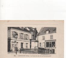 Cp Liancourt  60  La Statue Du Duc De La Rochefoucauld - Liancourt