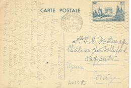 403 CPI Entier Postal Arc De Triomphe De Mantes- Bassicourt S&O 23-07-1940 - Entiers Postaux