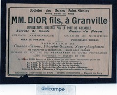 Publicité - Sociétés Des Usines SAINT - NICOLAS -  MM.  DIOR Fils à GRANVILLE (50) Importations Par Le Port De Granville - Werbung