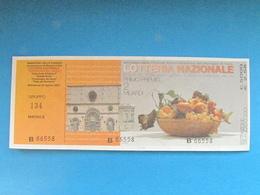 BIGLIETTO LOTTERIA PERDONANZA AQUILA CENTOMIGLIA GARDA 2001 - COMPLETO DI MATRICE FDS PERFETTO - Billets De Loterie