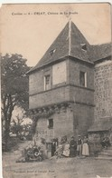 Rare Cpa Objat Château De La Brudie Animée - Francia