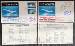 Premier Vol - Concorde - British Airways - Bahrain - Hong Kong - 1985 - Concorde
