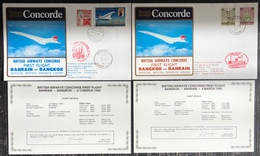 Premier Vol - Concorde - British Airways - Bahrain - Bangkok - 1985 - Concorde