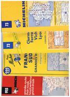 7 Cartes Routières Michelin.(Lot Indissociable) 1992/1993/1959/1976/1974/1967/1960. - Cartes Routières