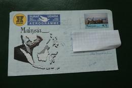 AEROGRAMME  MALAYSIA  1990  PANTAI DASAR SABAK KELANTAN - Malesia (1964-...)