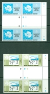British Antarctic Territory: 1981   20th Anniv Of Antarctic Treaty    MNH Gutter Blocks Of 4 - Unused Stamps