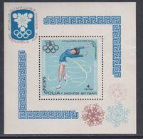 Mongolie BF N° 13 XX 10ème Jeux Olympiques D'hiver à Grenoble, Le Bloc Sans Charnière, TB - Mongolie