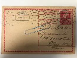 1910 10 Heller From Czernowitz To Paris - Entiers Postaux