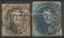 Belgique - Médaillons - Oblitérations D103 LOCHRISTI - Postmarks - Lines: Distributions