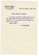 """Enveloppe & Lettre, Photo 6 X 8 Cm & CDV """"Lt Colonel Champod, Commandant Gendarmerie Canton De Vaud, Lausanne"""" - Cartes De Visite"""