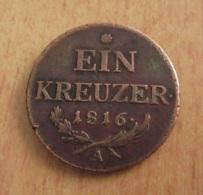 Autriche - Monnaie 1 (Ein) Kreuzer 1816 A (Wien / Vienne) - TTB - Austria
