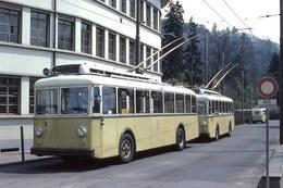 Trolleybus Berna   -   Thun-Bahnhof  En Suisse 1979  -  15x10cm PHOTO - Busse & Reisebusse