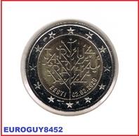 ESTLAND - 2 € COM. 2020 UNC - 100e VERJAARDAG VREDESVERDRAG VAN TARTU - Estonia