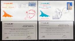Premier Vol - Concorde - Air France - Bruxelles - Toulouse - 1987 - Concorde