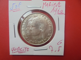 """Baudouin 1er. 50 Francs """"MARIAGE 1960"""" ARGENT. TRES BELLE QUALITE (A.1) - 1951-1993: Baldovino I"""