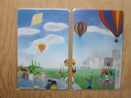 Children's ,basketball, Hot Balloon, Kite, Puzzle Set Of 2, Mint Expired - Vereinigte Staaten