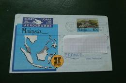 AEROGRAMME MALAYSIA  DEWAN SIVIK NEGERI KUCHING  STATE CIVIC CENTRE KUCHING 1988 - Malesia (1964-...)