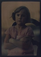 "Autochrome ""Lumiere""  1926 Petite Fille - Glasdias"