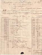 PARIS - MANUFACTURE DE PAPIERS PEINTS , RUE DE BEAUVEAU , BEAUVAU , FAUBOURG SAINT ANTOINE , DUFOUR ET LE ROY - 1827 - 1800 – 1899