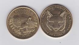 Parc Zoologique De Barben Le Lynx 2015 +réserve Africaine Sigean L'autruche 2015 - Monnaie De Paris