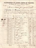 PARIS - MANUFACTURE PAPIERS PEINTS ET VELOUTES , RUE BASFROID N° 30 ET 32 FAUBOURG ST ANTOINE , GIRARDIN & MAISON - 1829 - France