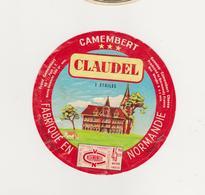 ETIQUETTE DE  CAMEMBERT CLAUDEL PONT HEBERT - Kaas