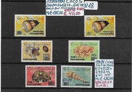 ISOLE COCOS (Keeling) ** 1990/1991 - RARI, 6 Valori Completi - Cocoseilanden