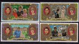 Centrafricaine N ° 479 / 82 XX : Mariage Royal Du Prince Charles Et De Lady Di, La Série Des 4 Valeurs Sans Charnière TB - Centrafricaine (République)