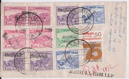 Bangladesh Jessore District Cover Used With Pakistan Stamps - Bangladesh